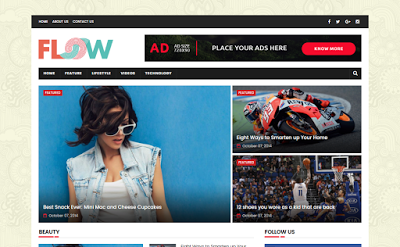 Flow Magazine Blogger Template is a simple, clean & elegant Blogger ...