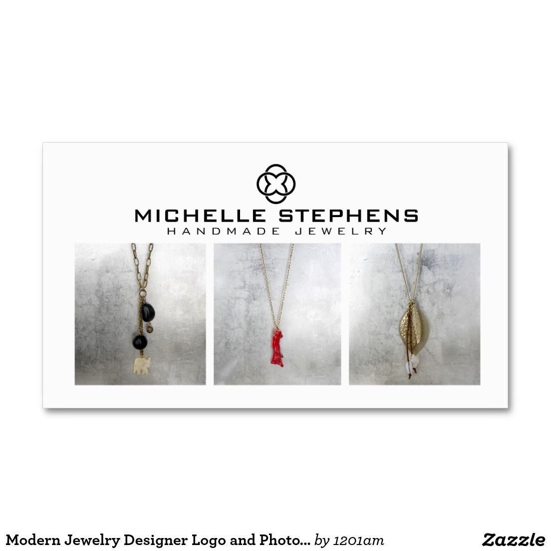 Modern Jewelry Designer Logo and Photography White Business Card ...