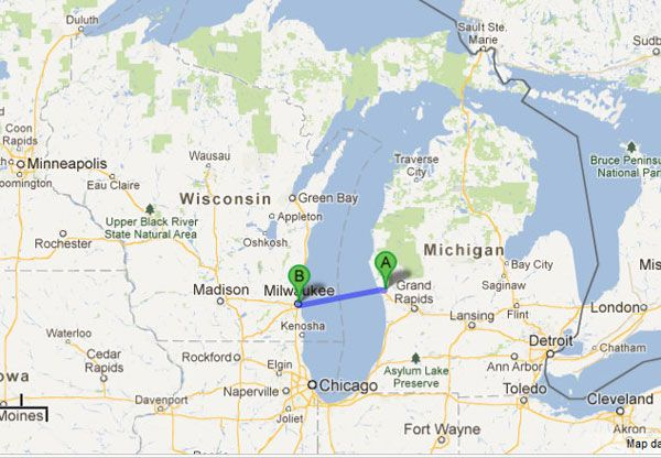 Lake Michigans high speed ferry Interesting nonNC Places Visited