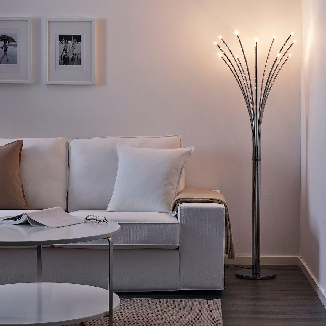 IKEA HOVNAS Chrome Plated ChromePlated/black Floor lamp