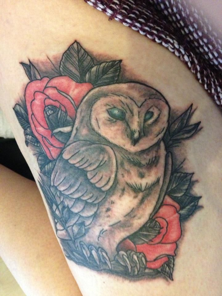 owl done at Devils Own Tattoo in Leicester, England | Half ...