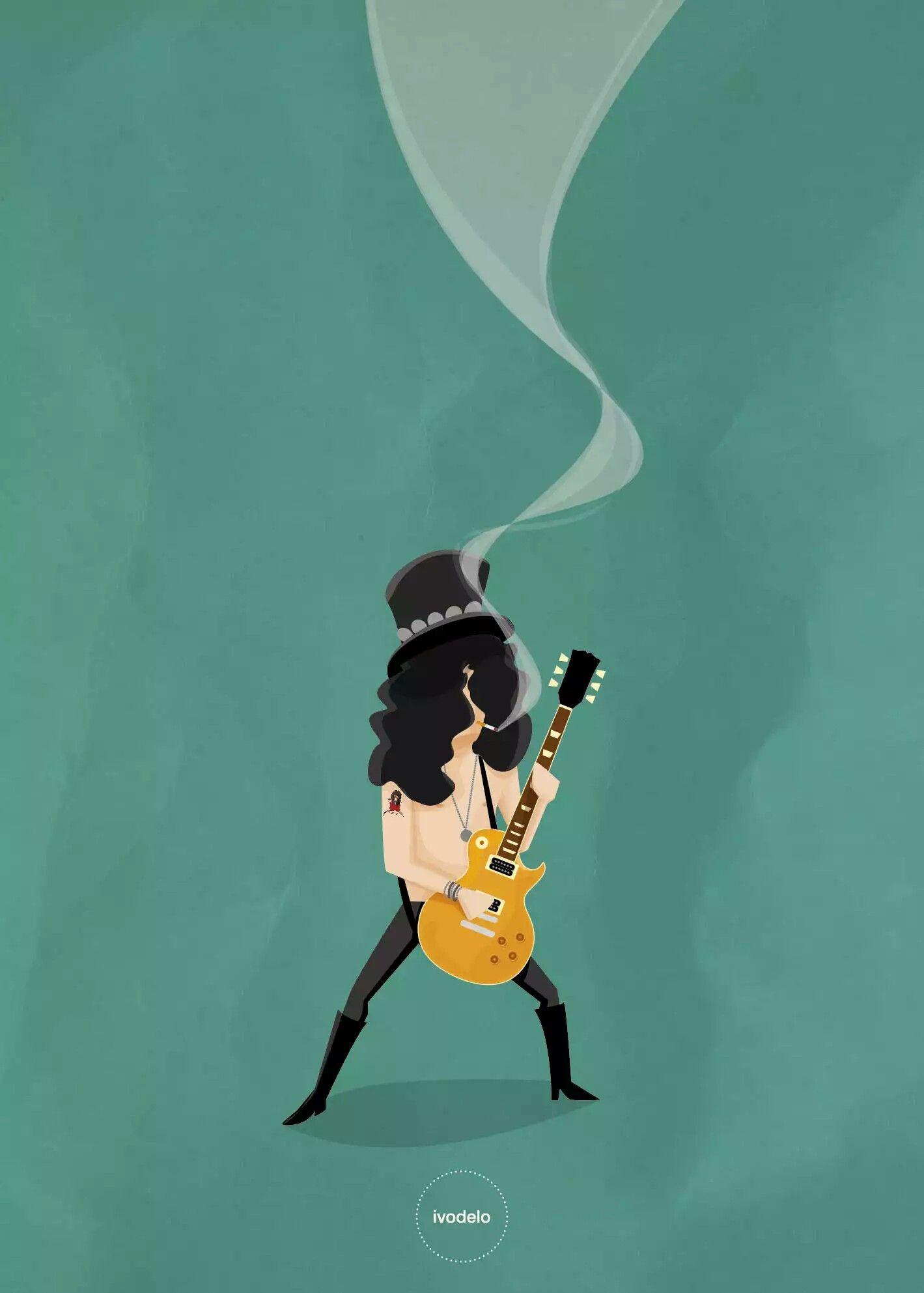 Slash By Ivodelo Com Imagens Posteres De Rock Rock Classico
