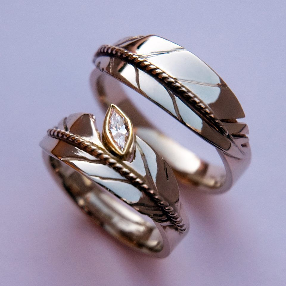 Native American Wedding Rings Native American Engagement Ring Native American Wedding Rings Feather Wedding Ring