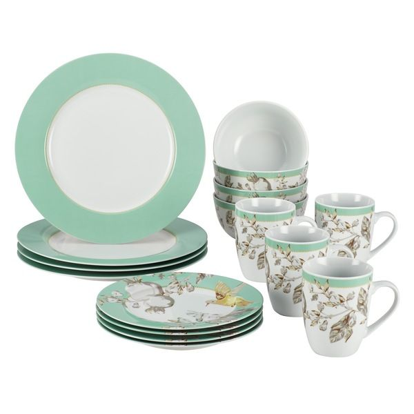 BonJour Fruitful Nectar 16-piece Porcelain Dinnerware Set - Overstock™ Shopping - Great Deals  sc 1 st  Pinterest & BonJour Fruitful Nectar 16-piece Porcelain Dinnerware Set ...
