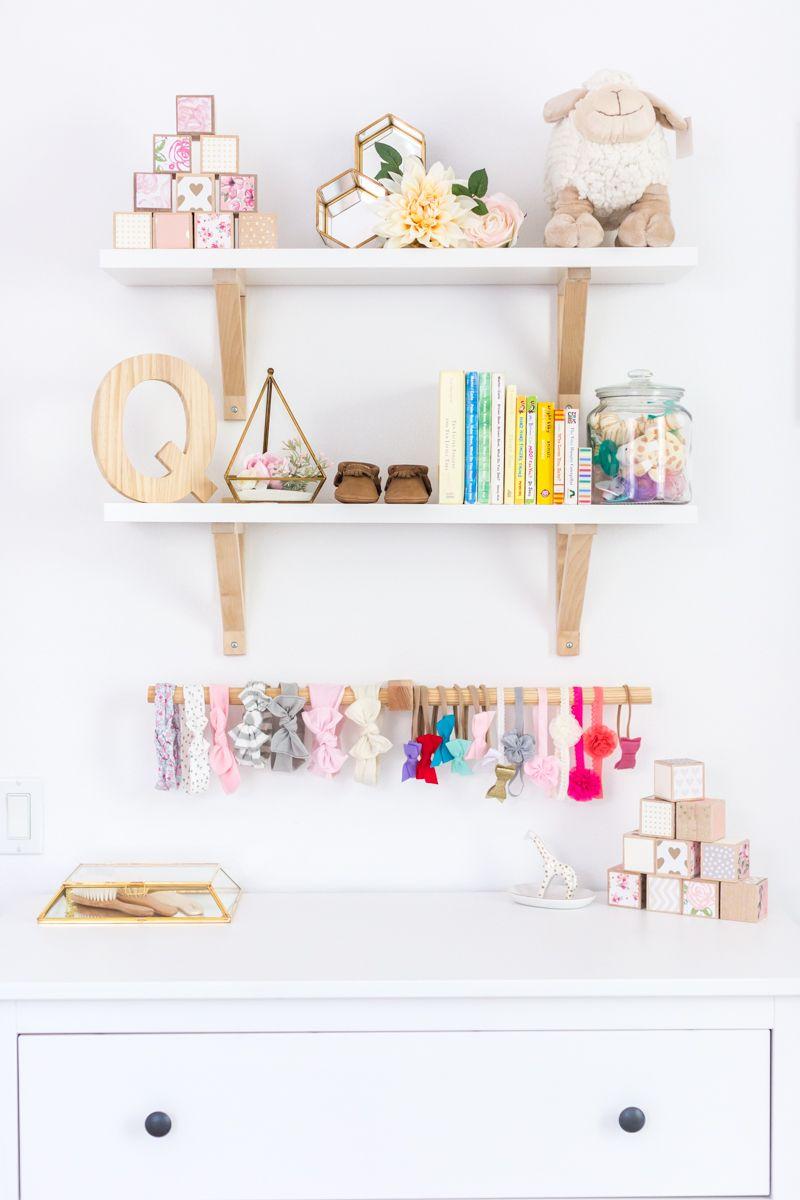 Quinn S Airy Floral Nursery Nursery Decor Girl Nursery Wall Decor Girl Nursery Shelf Decor