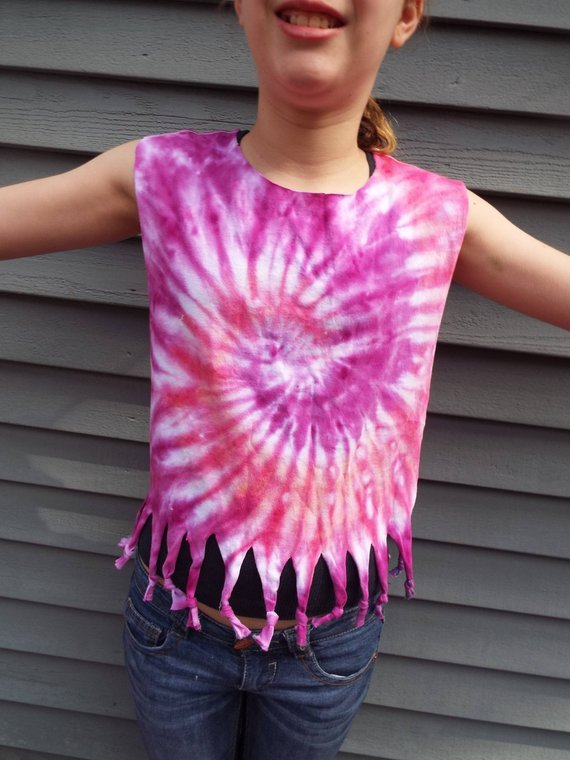 4d6fcb66ff7b8 Toddler Girls Tie Dye Tank Top, Altered T-shirt for toddlers w ...