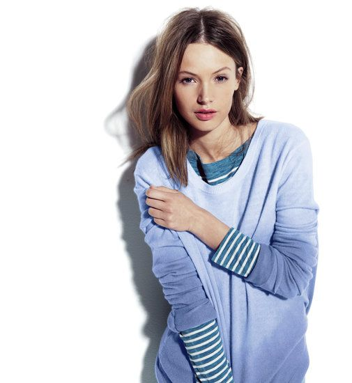 J.Crew and CFDA/Vogue Fashion Fund Team Up Again: The Elder Statesman for J.Crew Cashmere Blurred Crewneck Sweater. @J.Crew