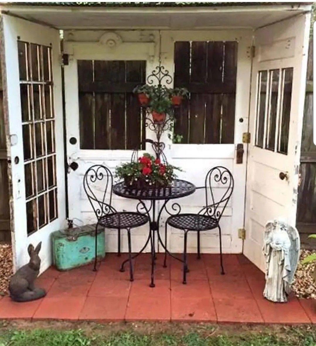 Pin by Christina Rivera on Back Yard Pleasures! | Backyard ... on Cheap Back Garden Ideas id=32940