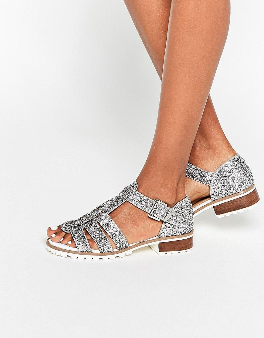 river island bottines or glitter