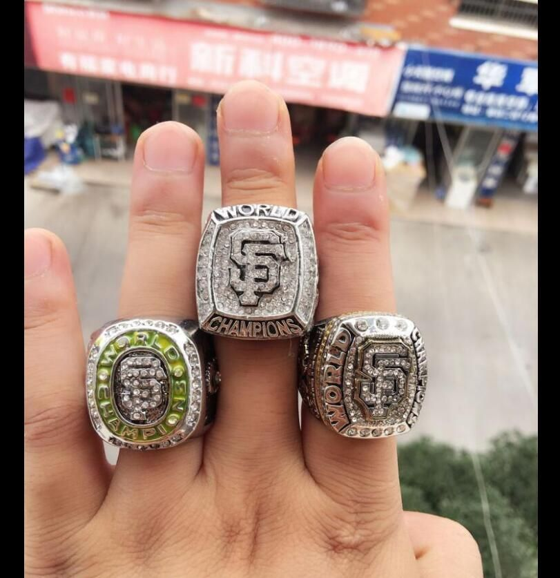 A copy of the latest design kit (3Pcs) 2010, 2012 ,2014 San Francisco Giants World Series Championship Ring !!! Free Shipping