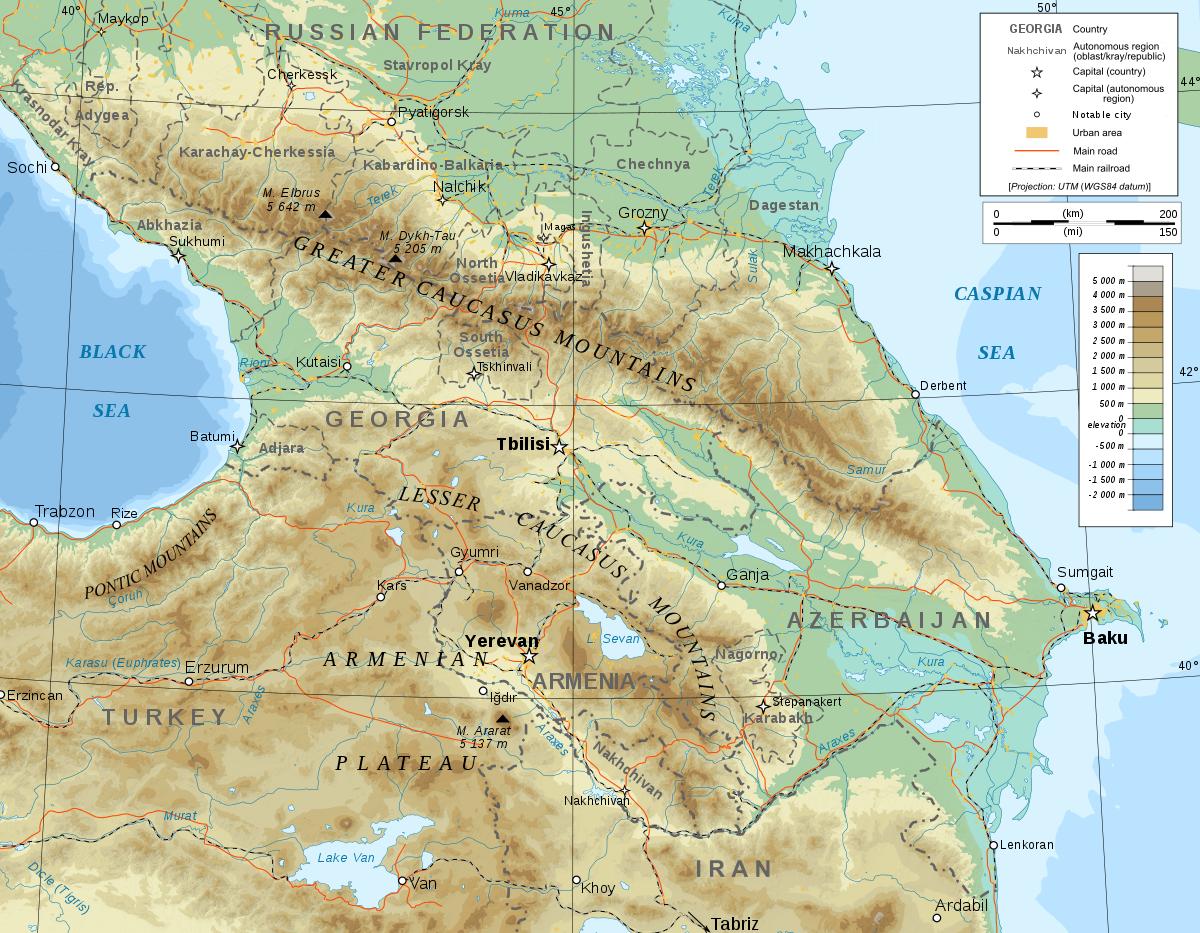 Wiki The Caucasus or Caucasia Eurasian border region between
