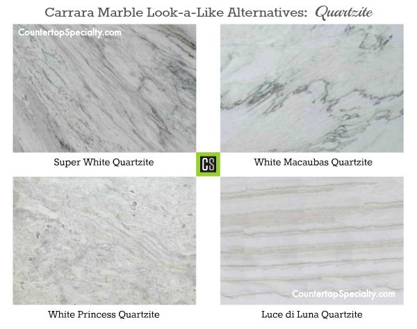 Carrara Marble Look A Like Alternatives Quartzite Countertop Colors