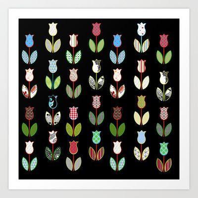 Tulips / 02 Art Print by MariskaART - $24.96