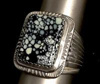 Will Denetdale  New Lander Turquoise Ring Sterling Size 10.5 Navajo 1 OF A  KIND