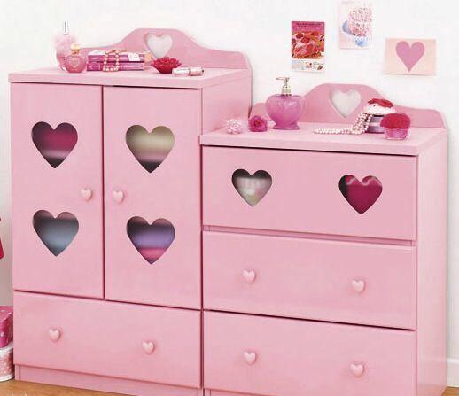 Cute Heart Dresser Set Kawaii Room