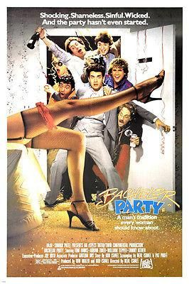 bachelor party MOVIE poster TOM HANKS TAWNY KITAEN fun sinful PLAYFUL 24X36