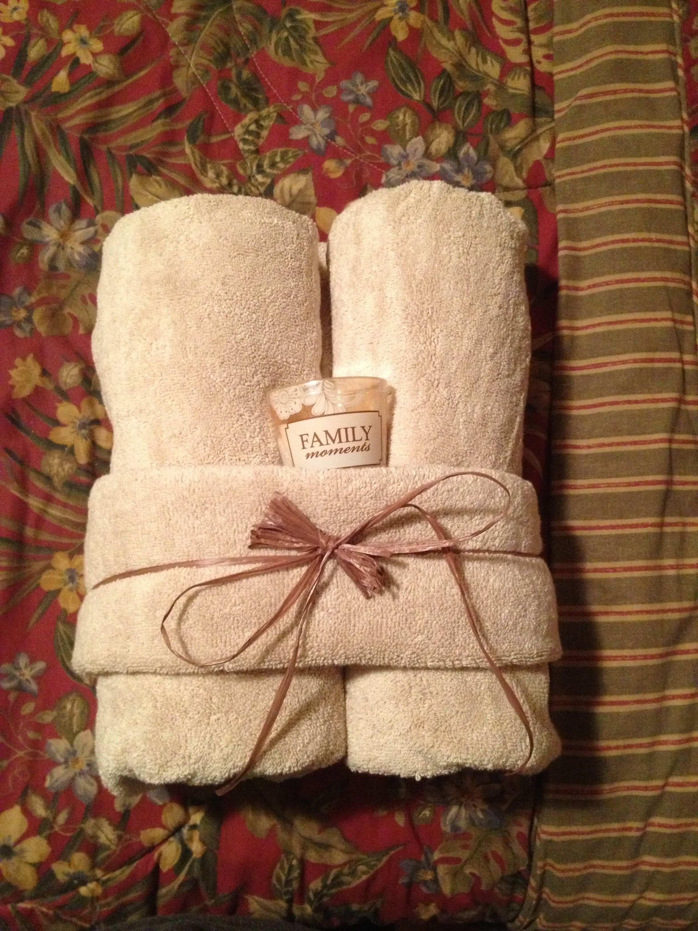 my favorite house warming or bridal shower gift two bath towels