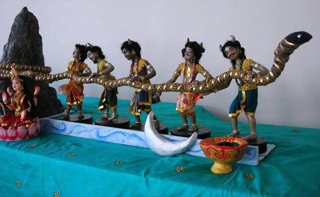 Samudra Manthan Golu Dolls Papiermache Dolls Mythology