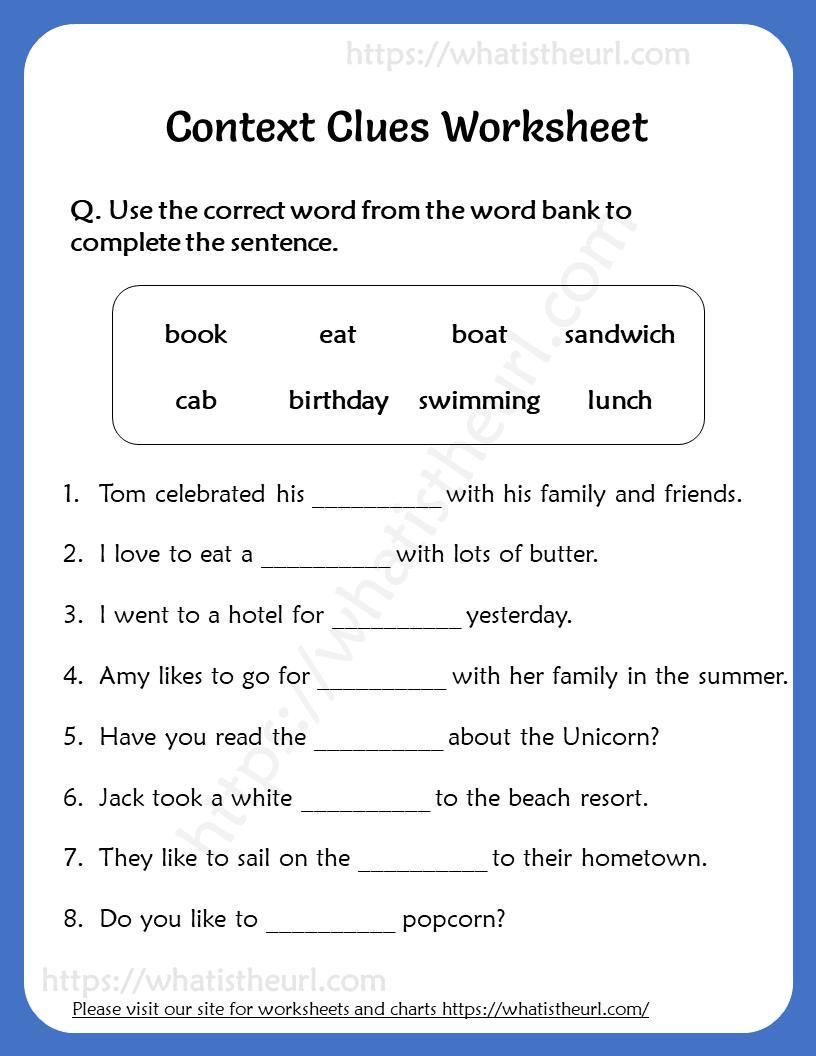 Context Clues Worksheet for Grade 5 Context clues Context-clues Literature  circles Reading response…   Context clues worksheets [ 1056 x 816 Pixel ]