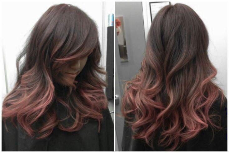 Black To Rose Gold Hair Google Search Balayazh Pricheski Strizhka