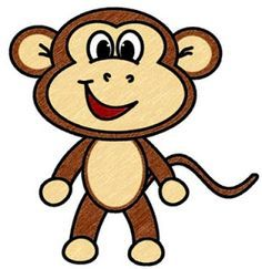 How To Draw A Baby Monkey How To Draw Cartoons