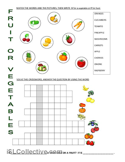 Fruit or Vegetable Worksheet Images Frompo 1 Healthy