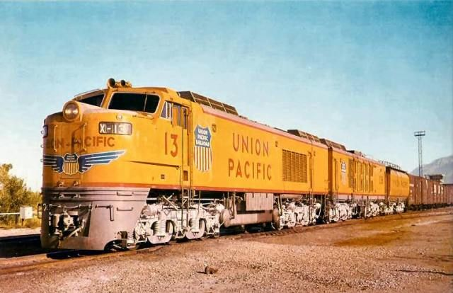 Union Pacific Gas Turbine Locomotive no. 13 was one of thirty built by GE. These locomotives were unique to the Union Pacific.