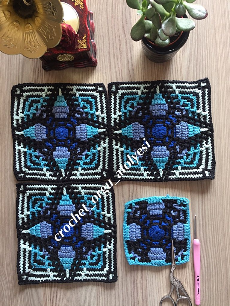 Mosaic Crochet Sal Koltuklar