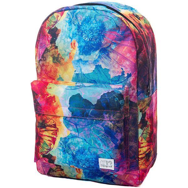 Spiral Woodstock OG Backpack ($34) ❤ liked on Polyvore featuring bags,  backpacks,