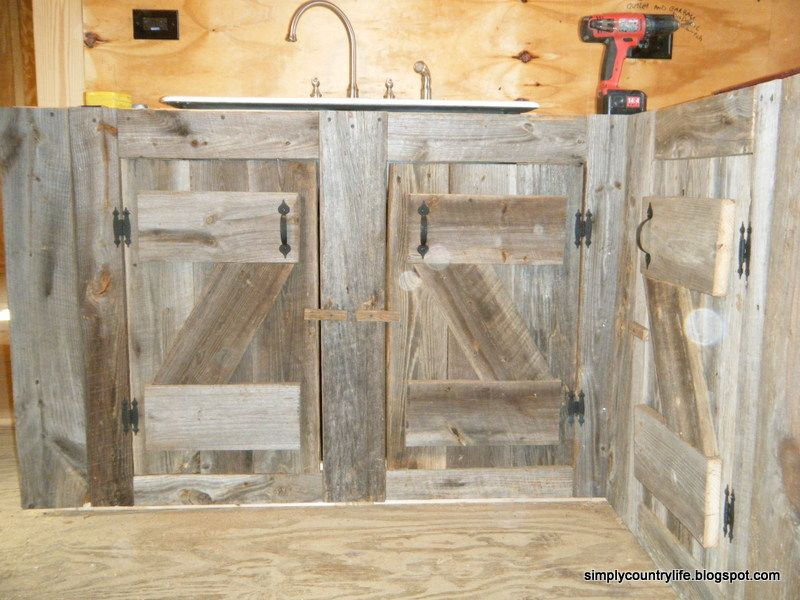 Kitchen Cabinets Made From Reclaimed Salvaged Barnwood Barn Wood Rustic Cabinets Reclaimed Barn Wood