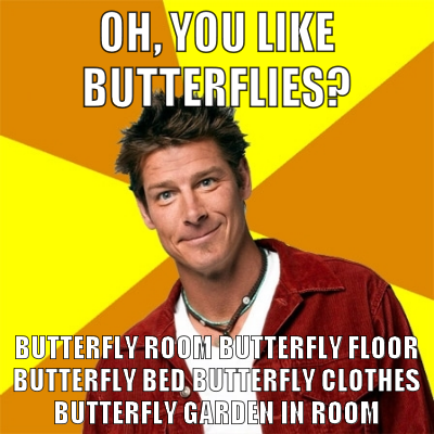 haha! Oh how I love you Ty Pennington on Extreme Home Makeover Edition...