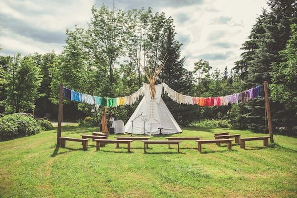 Earthy Outdoor Ceremony { Wedding Inspiration} | Tipi ...