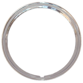 14 Inch Solid Stainless Steel Trim Rings Smooth 1 5 8 Inch Deep Trim Ring 17 Inch Wheels Stainless