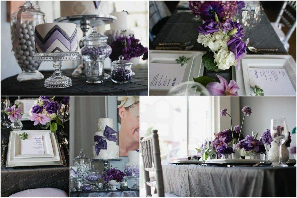 Purple dessert bar and tablescape created for @StudiowedDenver wedding trends!