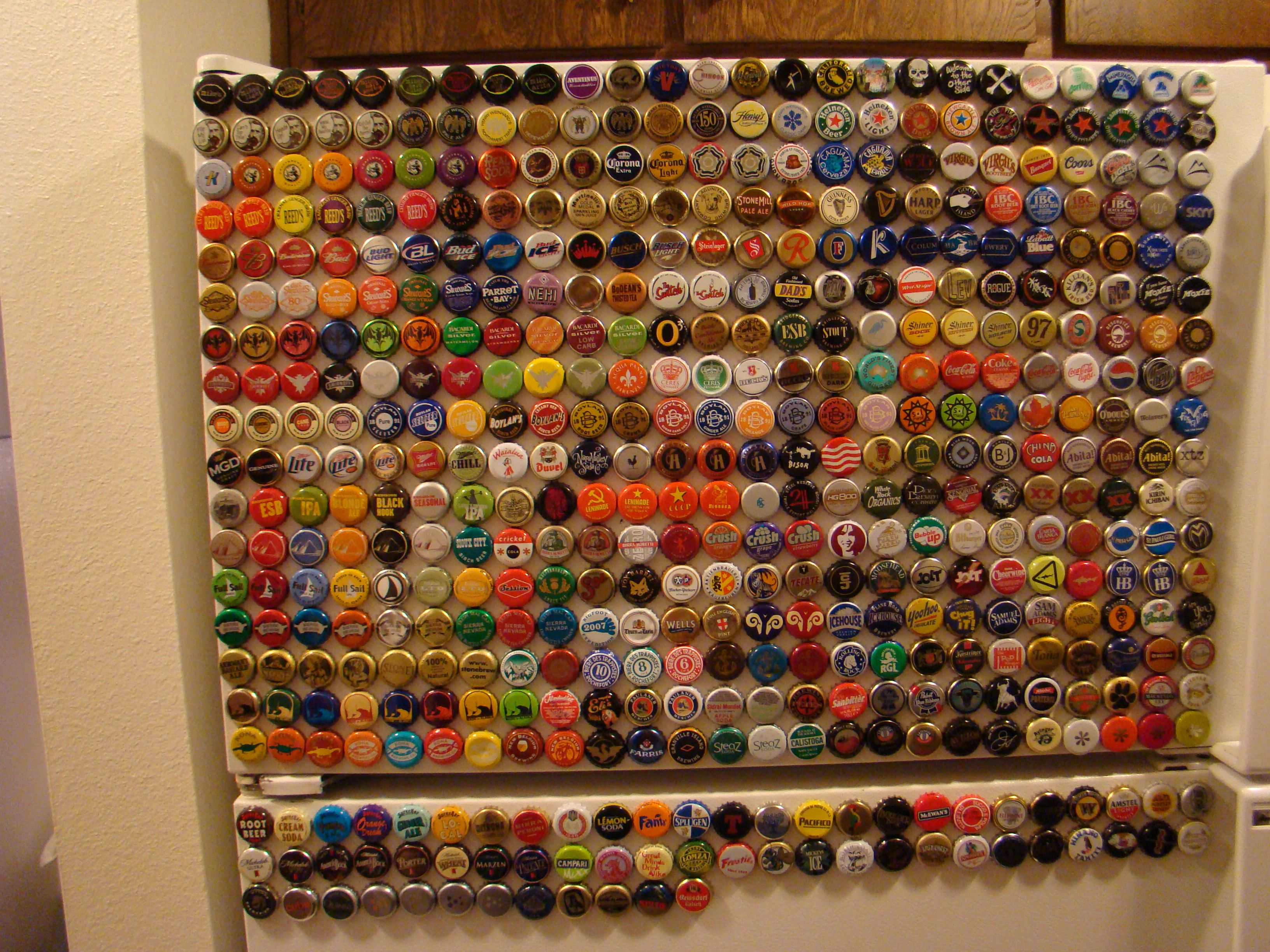 Bottle cap collection Apartment Pinterest