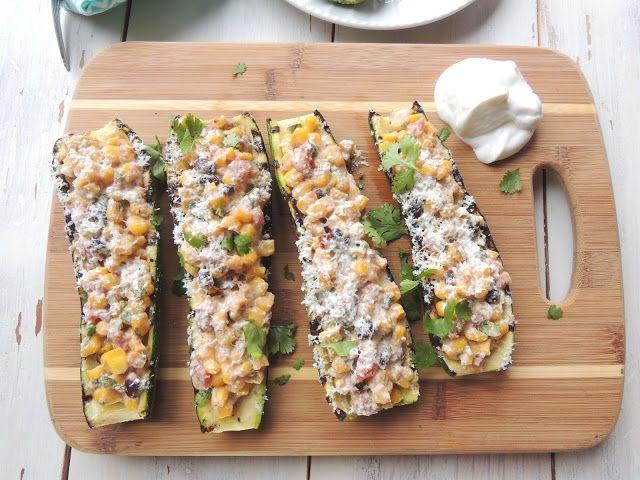 Grilled Baja Corn Zucchini Boats
