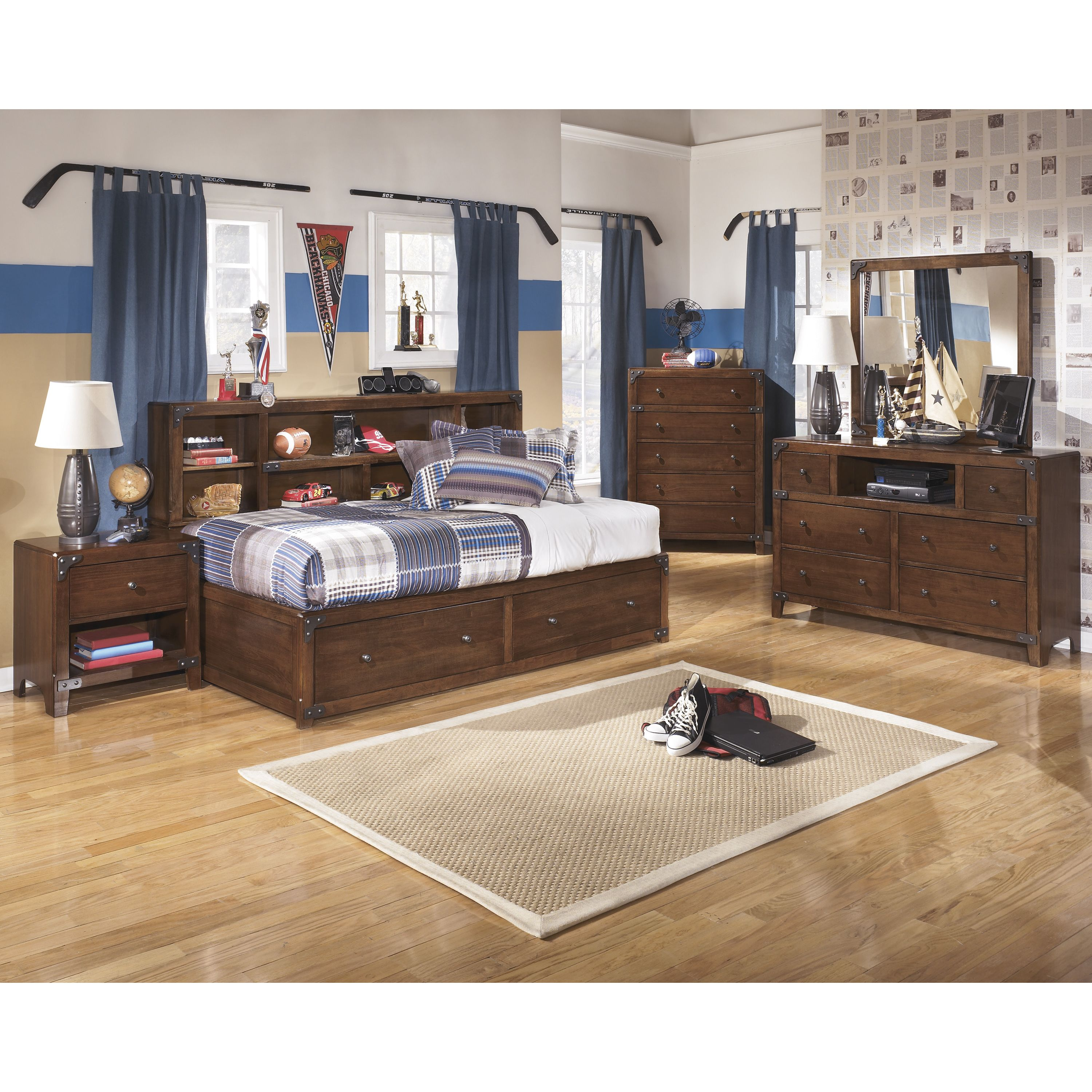 Invite a vintage feel with the delburne panel bed to your room with