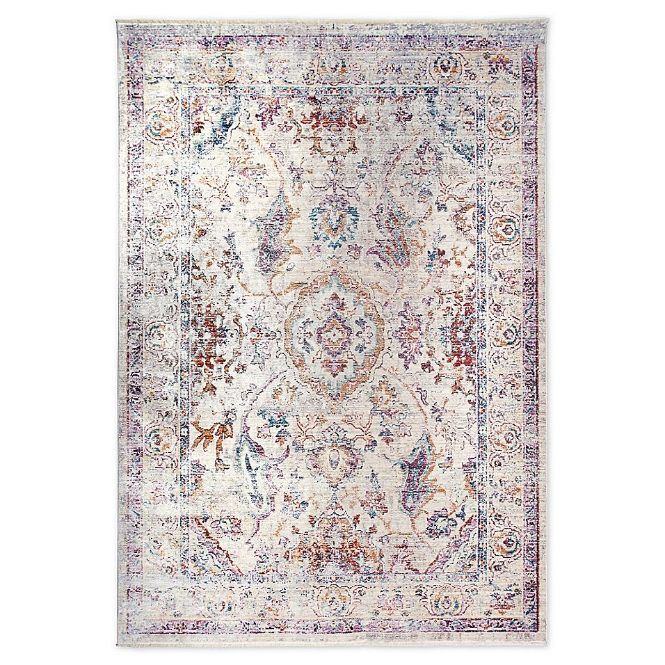 Artisan By Nicole Miller Border 5 3 X 7 9 Area Rug In Ivory Grey