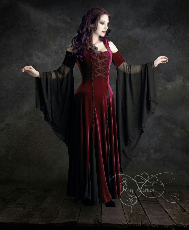 Gothic Romantic Maxi Velvet dress size L