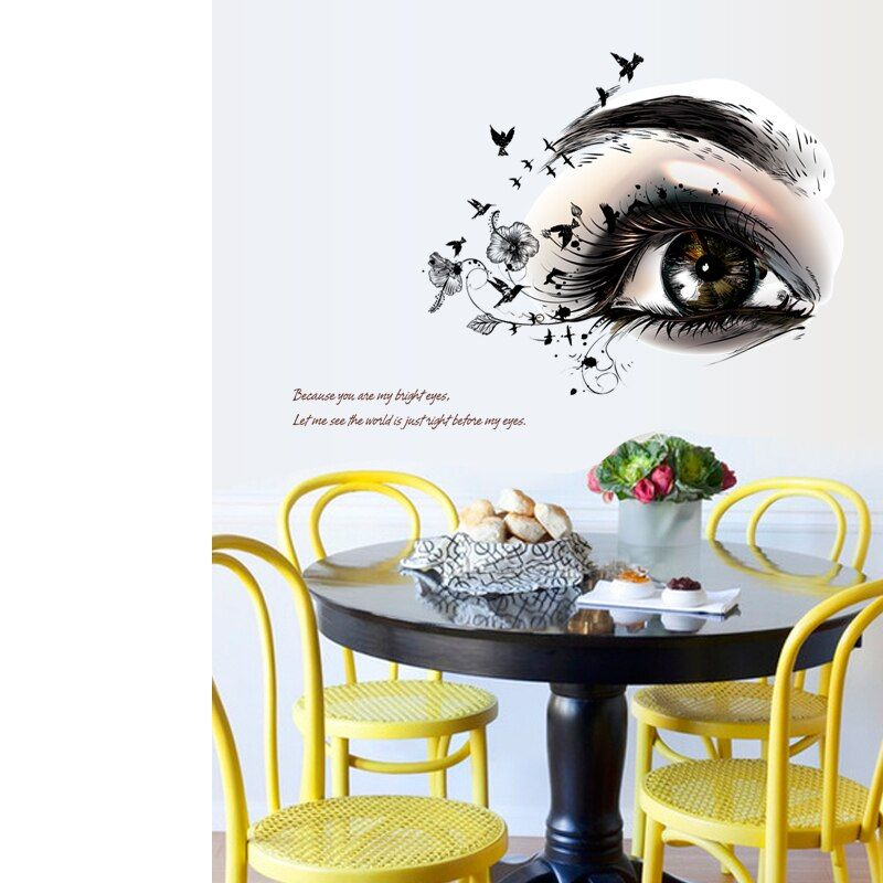Creative Pretty Eyelashes Wall Sticker Girl Room Decoration Home Mural Art Decal