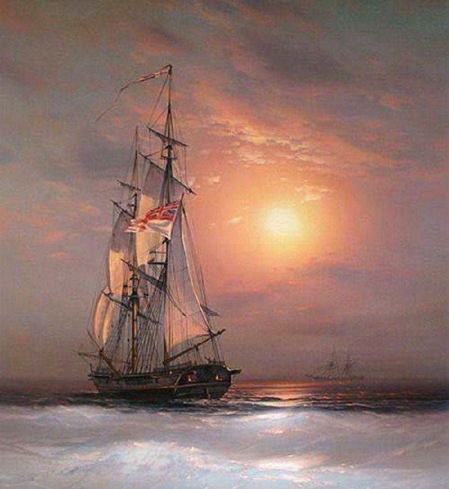 HMS Surprise Under Sail Wooden Ship Model Topsail Schooner Lynx Ben Franklins Black Prince Flying Cloud