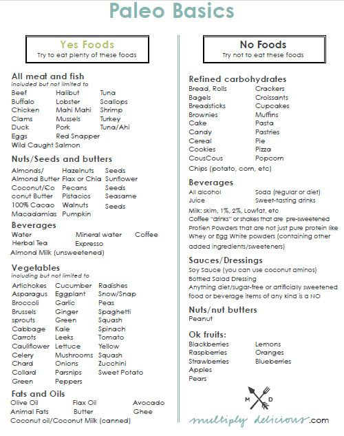 Paleo basics: food you can't eat, and food you can. I ...
