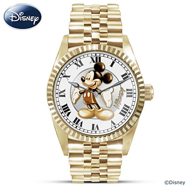 Disney Treasured Moments With Mickey Mouse Men's Watch