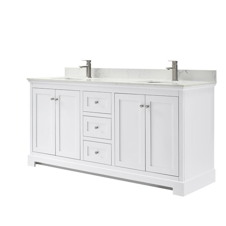 Wyndham Collection Ryla 72 In Double Bathroom Vanity In White