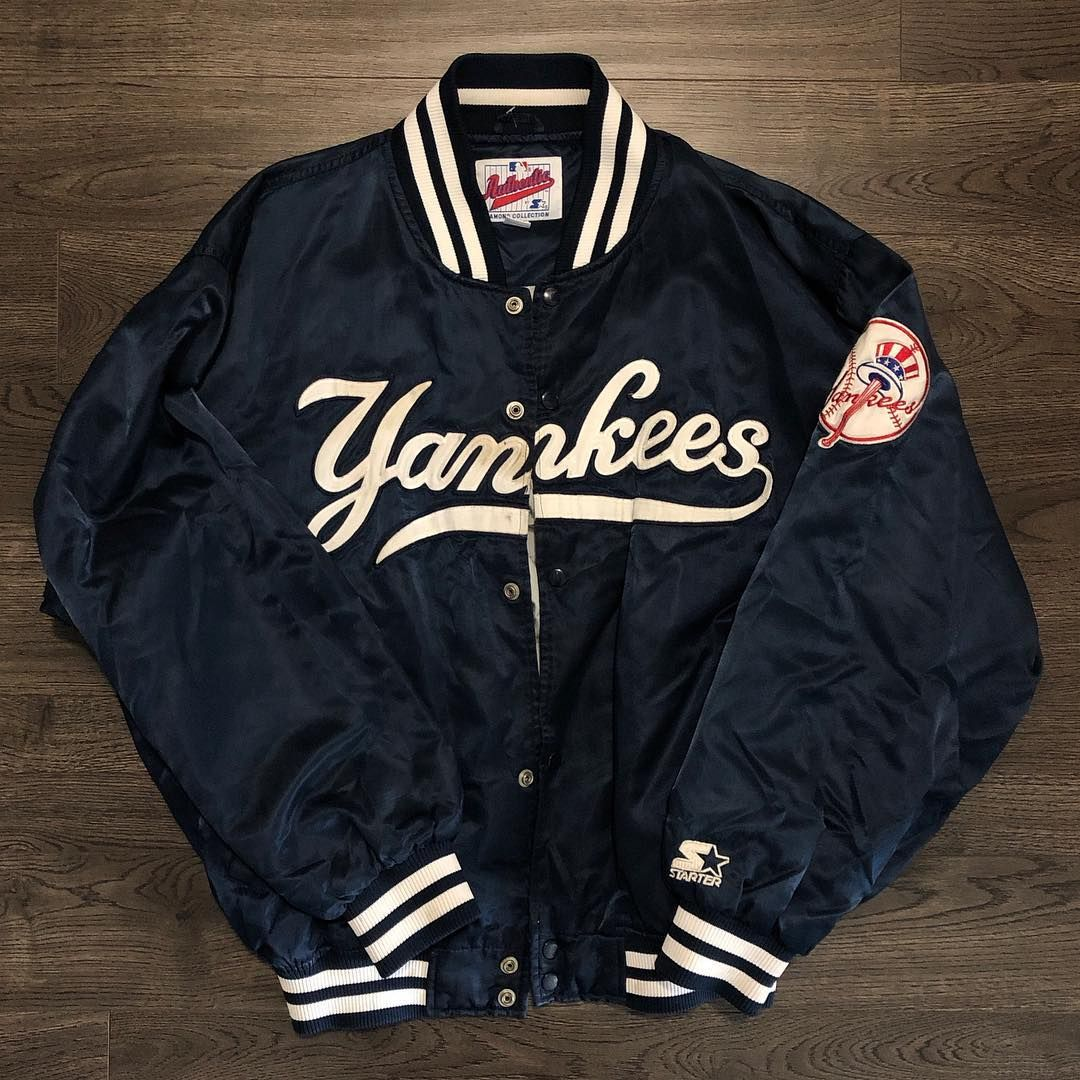 Vtg Authentic Starter New York Yankees Jacket Size Xl Large Dm To Purchase Sold [ 1080 x 1080 Pixel ]