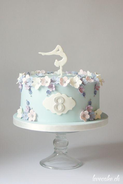 Gymnastics birthday cake / Kunstturnen Geburtstagstorte by LoveCake ...
