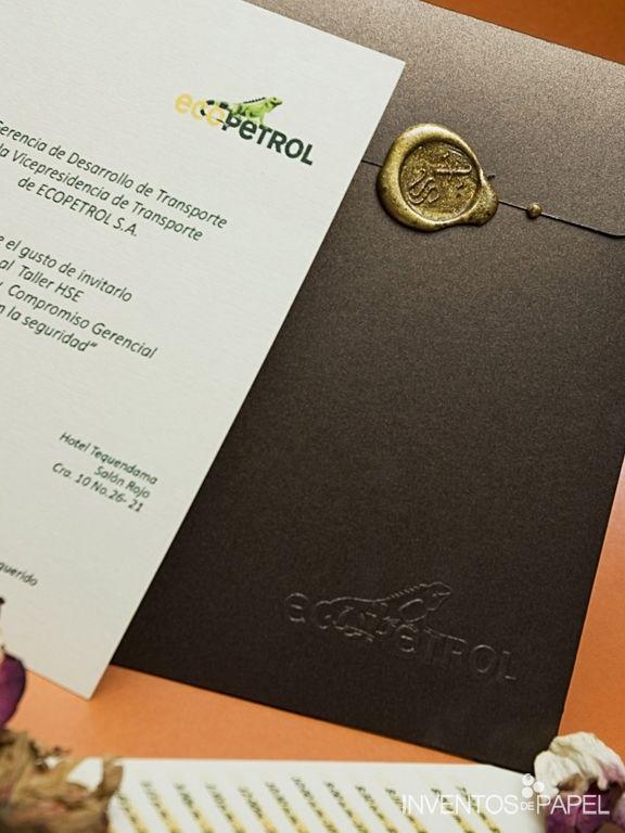 Tarjeta Invitacion Empresarial Calsica Lacre Invitación
