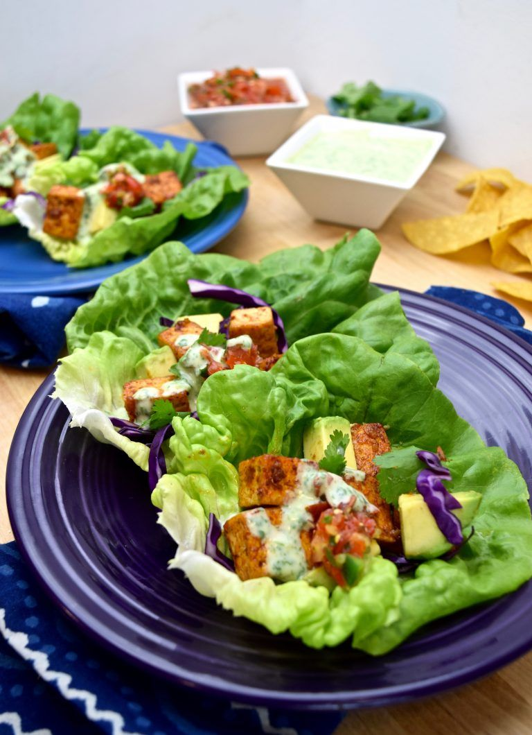 How To Make Chipotle Tofu Lettuce Tacos In 2020 Tofu Nutrition