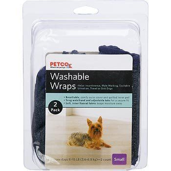 Petco Washable Wraps Diapers for Dogs (Small) 2 Pack