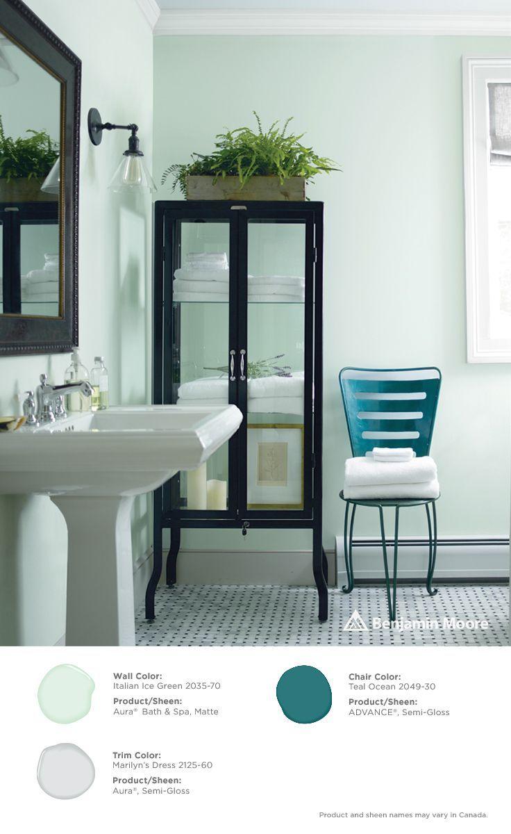 Italian Ice Green Benjamin Moore Bathroom Paint Colors Paint Colors Benjamin Moore Best Bathroom Paint Colors